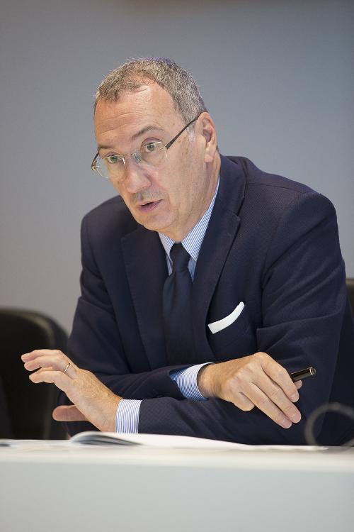 Sergio Bolzonello (Vicepresidente Regione FVG e assessore Attività produttive, Turismo e Cooperazione) alla presentazione dei dati sul turismo in FVG nel primo semestre 2017 - Udine 27/07/2017 (Foto Fabrice Gallina)
