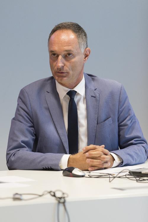 Bruno Bertero (Direttore Marketing PromoTurismo FVG) alla presentazione dei dati sul turismo in FVG nel primo semestre 2017 - Udine 27/07/2017 (Foto Fabrice Gallina)