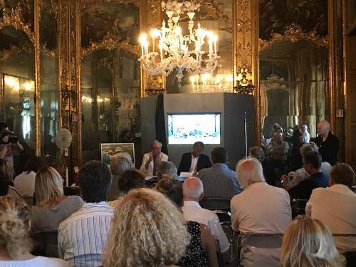 """Gianni Torrenti (Assessore regionale Cultura, Sport e Solidarietà) alla presentazione di """"100 milioni di anni fa: il mare del Carso"""" - Trieste 30/08/2017"""