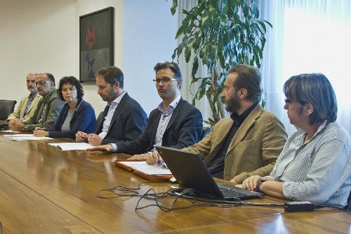 """Cristiano Shaurli (Assessore regionale Risorse agricole e forestali) alla presentazione della manifestazione """"Boster Nord-Est"""" - Udine 04/09/2017"""