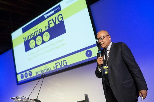 "Marco Tullio Petrangelo (Direttore generale PromoTurismo FVG) al ""Forum Turismo in FVG"" - Trieste 05/09/2017 (Foto Fabrice Gallina)"