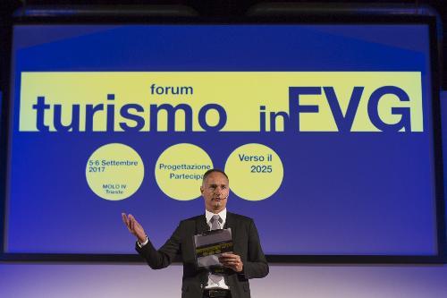 "Bruno Bertero (Direttore Marketing PromoTurismo FVG) al ""Forum Turismo in FVG"" - Trieste 05/09/2017 (Foto Fabrice Gallina)"