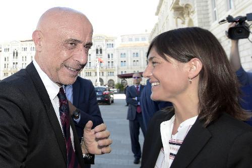 Domenico Minniti (Ministro Interno) e Debora Serracchiani (Presidente Regione Friuli Venezia Giulia) - Trieste 05/09/2017