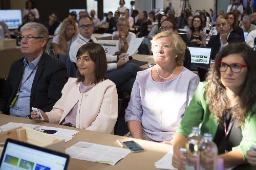 """Debora Serracchiani (Presidente Regione Friuli Venezia Giulia) alla seconda giornata del """"Forum Turismo in FVG"""", al Molo IV - Trieste 06/09/2017"""