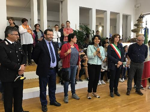 Mariagrazia Santoro (Assessore regionale Infrastrutture e Territorio) visita il plesso scolastico - Majano 11/09/2017