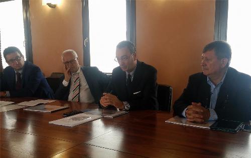 Sergio Bolzonello (Vicepresidente Regione FVG e assessore Attività produttive, Turismo e Cooperazione) alla presentazione dell'indagine sul terziario nel secondo trimestre 2017 in FVG - Pordenone 13/09/2017
