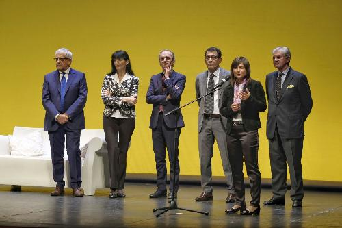 Debora Serracchiani (Presidente Regione Friuli Venezia Giulia) alla cerimonia di apertura  di pordenonelegge - Pordenone 13/09/2017 (Foto Gigi Cozzarin)