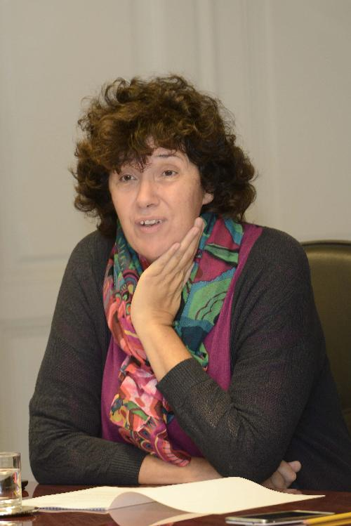 Loredana Panariti (Assessore regionale Lavoro, Formazione, Istruzione, Pari Opportunità, Politiche giovanili, Ricerca e Università) durante la riunione della Giunta regionale - Trieste 15/09/2017