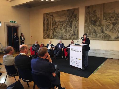 Debora Serracchiani (Presidente Regione Friuli Venezia Giulia) alla consegna del premio Friuli Storia - Udine 20/09/2017