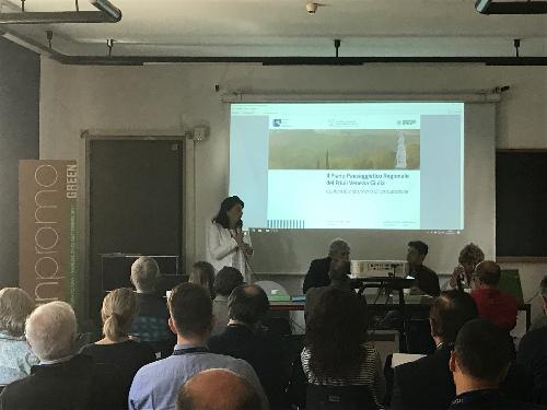 Mariagrazia Santoro (Assessore regionale Infrastrutture e Territorio) alla manifestazione Urbanpromo Green - Venezia 21/09/2017