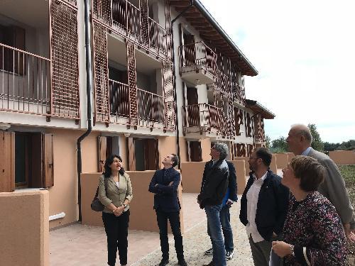 """Mariagrazia Santoro (Assessore regionale Infrastrutture e Territorio) all'inaugurazione di """"Borgo Magretti"""" - Remanzacco 26/09/2017"""