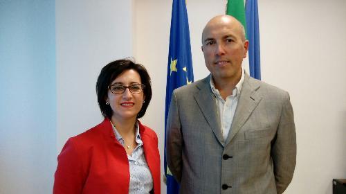 Sara Vito (Assessore regionale Ambiente ed Energia) e Nicola Turello (Sindaco Pozzuolo) neo presidente dell'Autorità unica per i servizi idrici e i rifiuti (Ausir) - Udine 27/09/2017