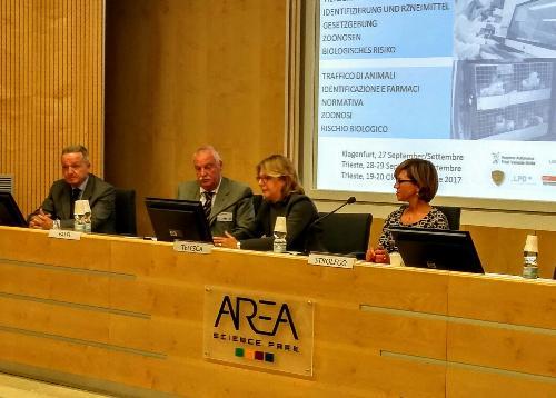 Maria Sandra Telesca (Assessore regionale Salute, Integrazione socio-sanitaria, Politiche sociali e Famiglia) durante la presentazione del progetto europeo Bio-Crime all'Area Science Park - Trieste 28/09/2017