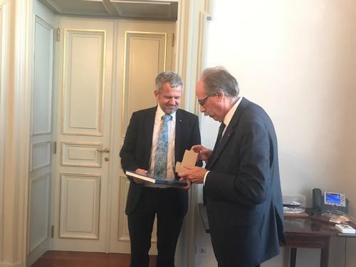 Gianni Torrenti (Assessore regionale Cultura, Sport e Solidarietà) incontra Wolfgang Spadinger (Console generale Austria in Italia) - Trieste 04/10/2017