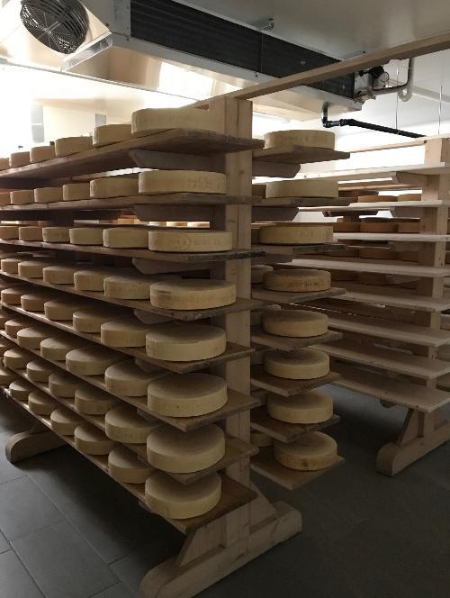 I locali di conservazione dei formaggi del nuovo punto vendita del caseificio Alto But - Tolmezzo 09/10/2017