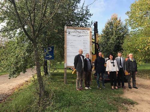 Mariagrazia Santoro (Assessore regionale Infrastrutture e Territorio) alla consegna dei lavori di sistemazione del ponte sul Torre tra Povoletto e Udine - Povoletto 10/10/2017