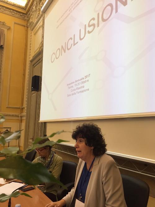 Loredana Panariti (Assessore regionale Lavoro, Formazione, Istruzione, Pari Opportunità, Politiche giovanili, Ricerca e Università) all'incontro nazionale Rete READY - Torino 20/10/2017