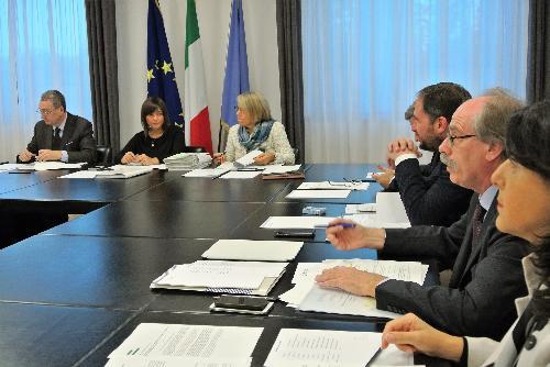 Riunione della Giunta regionale del Friuli Venezia Giulia - Trieste 20/10/2017