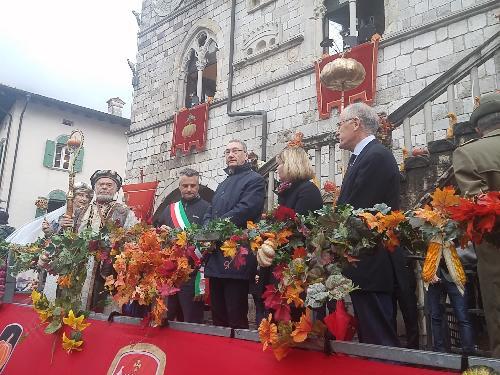 Sergio Bolzonello (Vicepresidente Regione FVG e assessore Attività produttive, Turismo e Cooperazione) alla Festa della zucca - Venzone 22/10/2017