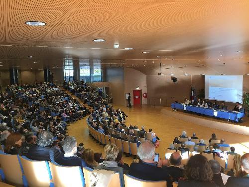 Mariagrazia Santoro (Assessore regionale Infrastrutture e Territorio) interviene al primo incontro sul Piano Paesaggistico Regionale - Udine 23/10/2017