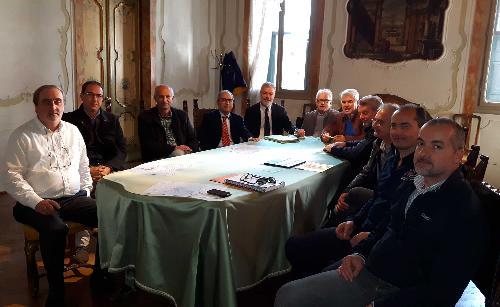 L'assessore regionale alla Protezione civile Panontin e i sindaci di San Vito al Tagliamento, Sesto al Reghena e Morsano al Tagliamento - 24/10/2017