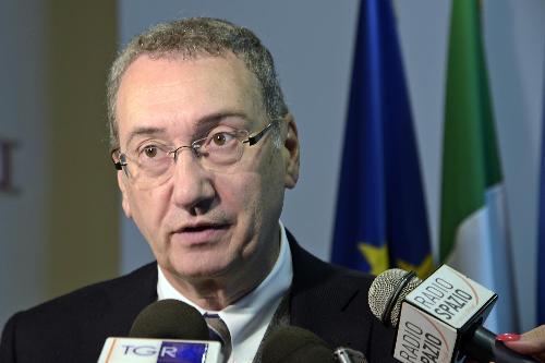 Sergio Bolzonello (Vicepresidente Regione FVG e assessore Attività produttive, Turismo e Cooperazione) alla presentazione dei dati gennaio-settembre 2017 dell'andamento turistico regionale - Udine 26/10/2017