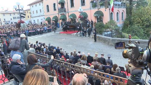 Luca Zingaretti (Attore) legge alcuni brani in occasione della cerimonia in ricordo della disfatta di Caporetto - Cividale del Friuli 27/10/2017