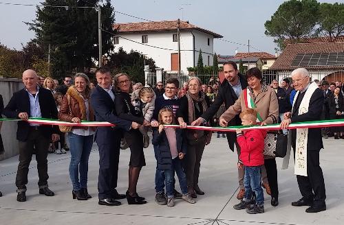 Cristiano Shaurli (Assessore regionale Risorse agricole e forestali) alla cerimonia di scoprimento della targa di locale storico all'Osteria Grossutti - Bertiolo 29/10/2017