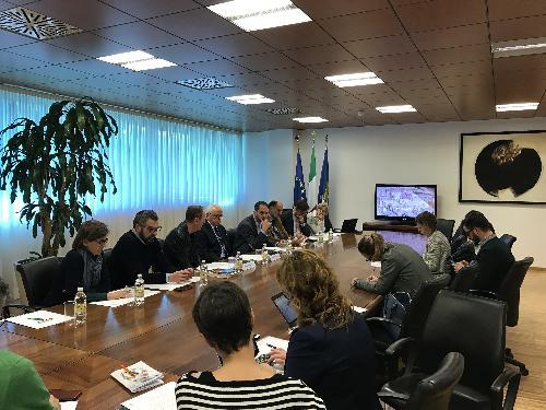 Cristiano Shaurli (Assessore regionale Risorse agricole e forestali) durante la presentazione della missione istituzionale in USA per promuovere le eccellenze agroalimentari e vitivinicole del FVG - Udine 10/11/2017
