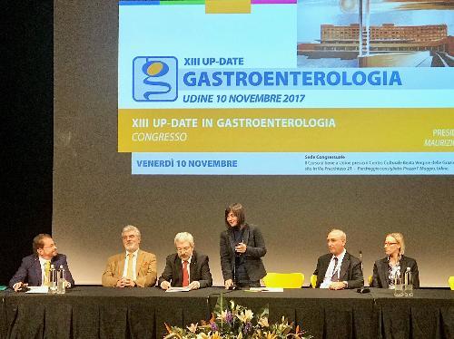 Debora Serracchiani (Presidente Regione Friuli Venezia Giulia) interviene alla giornata conclusiva del congresso dedicato alla gastroenterologia - Udine 10/11/2017