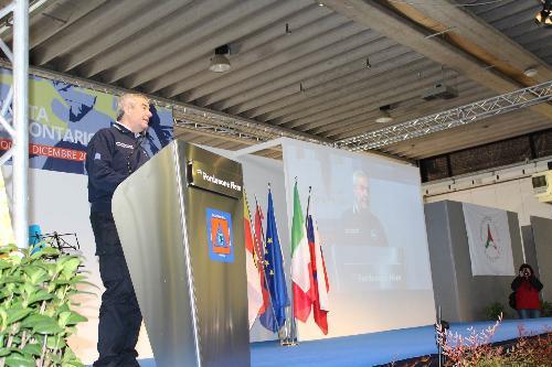Angelo Borrelli (Capo Dipartimento Protezione Civile) interviene alla Giornata del volontario della Protezione civile - Pordenone 02/12/2017