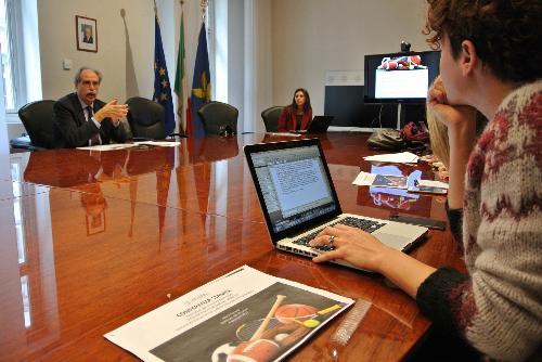 Gianni Torrenti (Assessore regionale Cultura, Sport e Solidarietà) presenta i provvedimenti di finanziamento allo sport - Trieste 04/12/2017