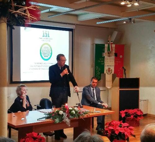 Sergio Bolzonello (Vicepresidente Regione FVG e assessore Attività produttive, Turismo e Cooperazione) alla cerimonia di apertura del 151° anno di attività della Società Operaia di Mutuo Soccorso e Istruzione (SOMSI) - Pordenone 08/12/2017