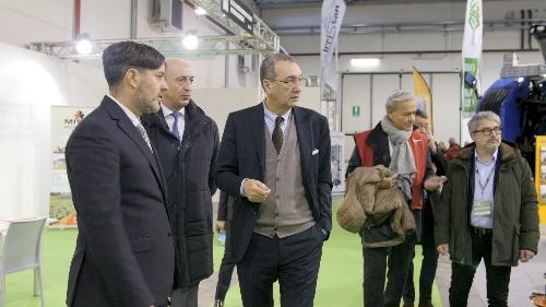 Sergio Bolzonello (Vicepresidente Regione FVG e assessore Attività produttive, Turismo e Cooperazione) all'inaugurazione della prima edizione di Rive - Pordenone 12/12/2017 (Foto Pordenone Fiere)