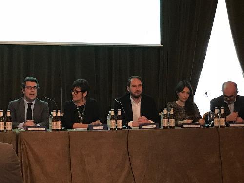 Cristiano Shaurli (Assessore regionale Risorse agricole e forestali) alla conferenza stampa dedicata al rilancio della birra Dormisch - Udine 12/12/2017