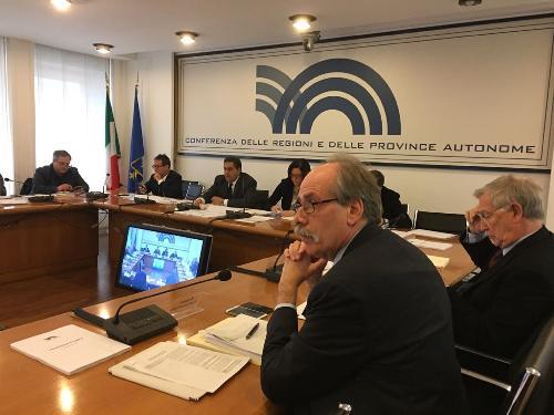 Gianni Torrenti (Assessore regionale Cultura, Sport e Solidarietà) alla Conferenza delle Regioni - Roma 21/12/2017