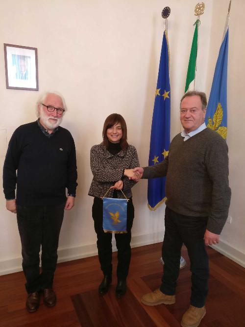 Roberto Decarli (Consigliere Comune Trieste), Debora Serracchiani (Presidente Regione Friuli Venezia Giulia) e Maurizio Metton (Presidente Circolo Ferriera) - Trieste 22/12/2017
