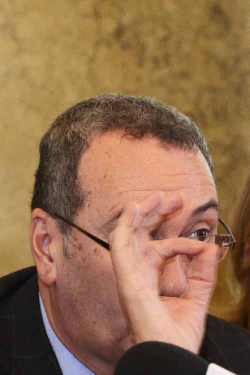 Sergio Bolzonello (Vicepresidente Regione FVG e assessore Attività produttive, Turismo e Cooperazione) nel corso della conferenza stampa di fine anno - Trieste 22/12/2017