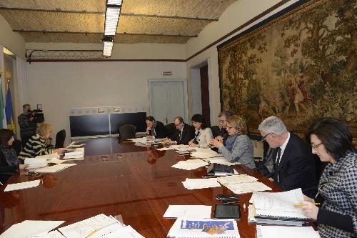 Riunione della Giunta del FVG presieduta da Debora Serracchiani (Presidente Regione Friuli Venezia Giulia) - Trieste 28/12/2017