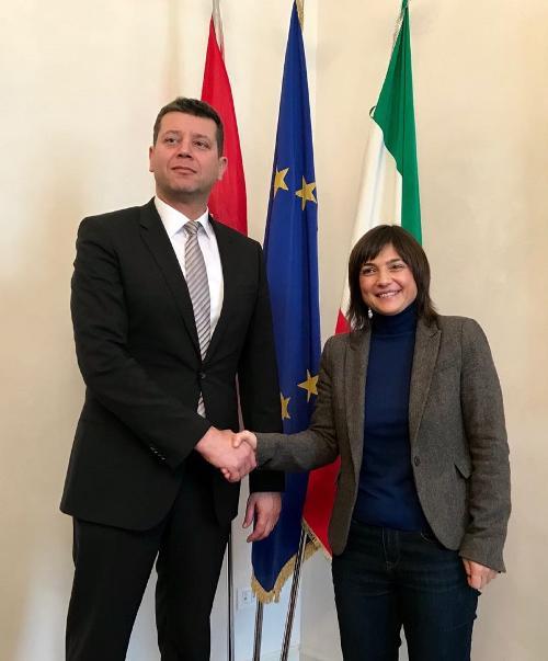 Debora Serracchiani (Presidente Regione Friuli Venezia Giulia) incontra Jasen Mesić (Ambasciatore Croazia in Italia) - Trieste 02/01/2018