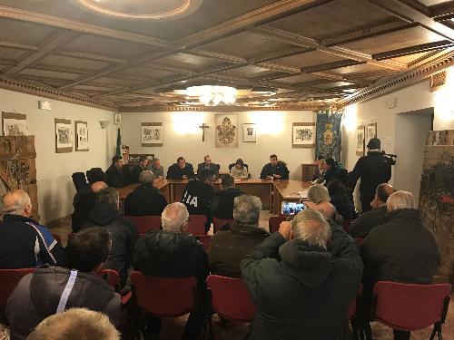 Incontro tra la Giunta comunale di Sappada, i presidenti della Regione e del Consiglio regionale, l'assessore FVG alle Autonomie locali e i vertici della Protezione civile - Sappada 05/01/2018