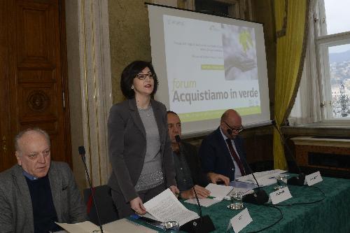 Sara Vito, assessore regionale all'Ambiente ed Energia al Forum 'Acquistare verde per l'innovazione e la sostenibilità ambientale' - Trieste 06/03/2018