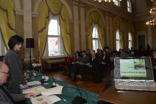 Il pubblico intervenuto al Forum 'Acquistare verde per l'innovazione e la sostenibilità ambientale' - Trieste 06/03/2018