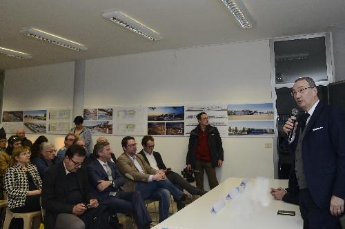 Intervento del vicepresidente della Regione, Sergio Bolzonello, alla presentazione del nuovo progetto preliminare  del polo termale di Grado