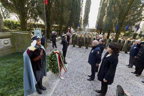 Mariagrazia Santoro (Assessore regionale alle Infrastrutture e al Territorio) alla cerimonia in ricordo degli undici Militi Ignoti della Grande Guerra- Aquileia 14/03/2018