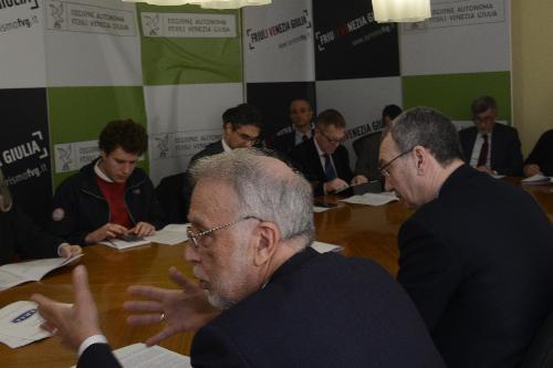 Sergio Bolzonello (Vicepresidente Regione Friuli Venezia Giulia) nel corso della presentazione annuale delle attività del Frie - Trieste 14/03/2018