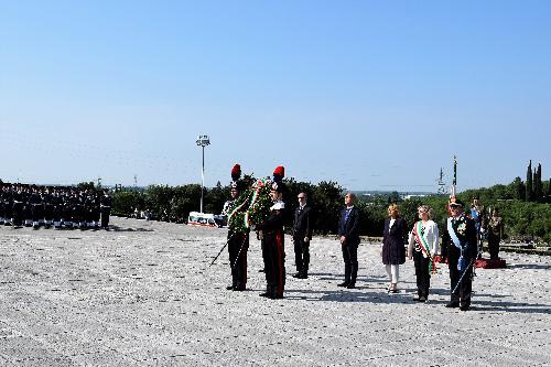 Nella foto il vicepresidente della Regione, Riccardo Riccardi, durante la celebrazione del 72esimo anniversario di fondazione della Repubblica al Sacrario Militare di Redipuglia