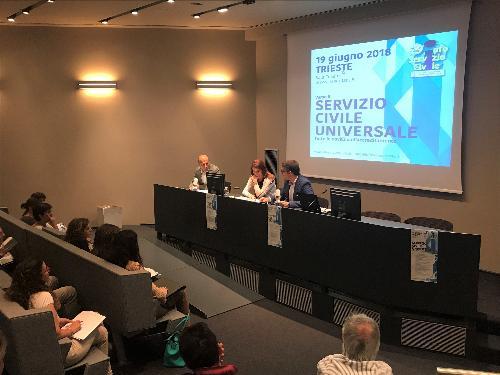 Pierpaolo Roberti (Assessore regionale Autonomie locali) alla presentazione del monitoraggio del Servizio civile nazionale e solidale in Friuli Venezia Giulia, Trieste 19/06/2018