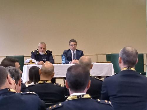 Pierpaolo Roberti (Assessore regionale Autonomie locali e Sicurezza) all' incontro con i responsabili della Polizia locale - Aiello del Friuli 25/06/2018