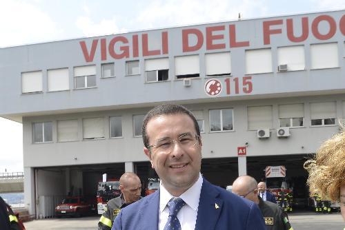 Il Sottosegretario all'Intermo Stefano Candiani, in visita al Comando provinciale dei Vigili del Fuoco - Trieste 12/07/2018